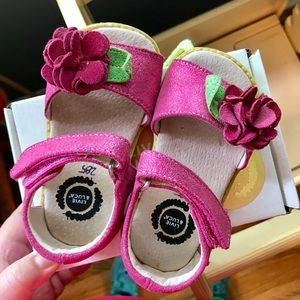 Livie and Luca pink sandals with flowers, size 7